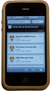 CBBG Blog on your mobile phone